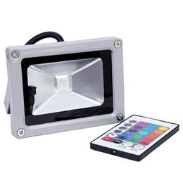Reflector led rgb online-Por Fedex 5pcs 10W RGB Reflector 85-265V 120 Grados Impermeable Alta potencia Bombillas LED Luz de inundación Ahorro de energía