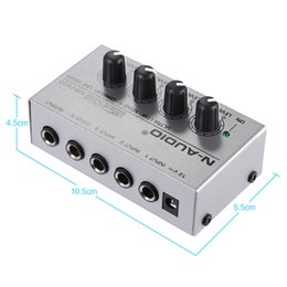 Wholesale Audio Power Line - MX400 Ultra-compact Low Noise 4 Channels Line Mono Audio Mixer with Power Adapter