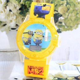 Wholesale Despicable Items - Wholesale-2015 New despicable me , ben 10 projection watch lovely Character Electronic projection watch Novelty Items for Holiday 10pcs