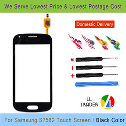 Wholesale Duos S 7562 - Wholesale-Trend Gt S7562 Quality Guarantee For Samsung Galaxy S Duos 7562 Touch Screen Digitizer Black Free Shipping Free Tools