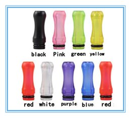 Wholesale Ee2 E Cig Kits - 2015 Plastic Drip Tips transparent Colorful Mouthpiece Plastic Drip Tips for EE2  Vivi Nova  DCT 510 for ego starter kit e cig Free DHL