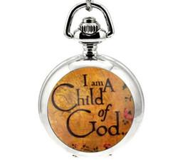 Wholesale Enamel Pendant Round - Hot sales Unique design A child of god pattern enamel Children's cartoon Quartz pendant Necklace pocket watch
