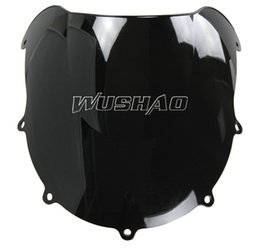 Wholesale Suzuki 1997 - Motorcycle Double Bubble Windshield WindScreen For 1996-1999 Suzuki GSXR600 GSXR750 GSXR 600 750 1997 1998 96 97 98 99 Black