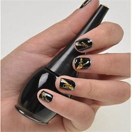 Wholesale Holiday Nail Art Stickers Decals - Wholesale-2015 Holiday Sale Metallic non-poisonous create beautiful designs Zipper Nail Art Stickers Decals Nail Art decoration