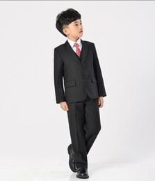 Wholesale Ivory Tuxedo For Boys - High qulity boy suits tuxedos boys formal occasion suits pure color boys suits for wedding three-piece boy suits tuxedos(jacket+pants+vest)