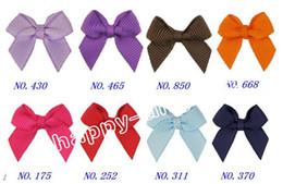 """Wholesale Grosgrain Hair Bows Mini - free shipping Boutique 50pcs 2.5 """" mini bows grosgrain ribbon bow fashion hair accessaries no clip HD3303"""
