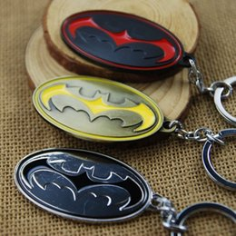 Wholesale Boys Batman Tops - Top Grade Batman Keyring Keychain for Keys Movie Series Key Chain Best Promotion Key Ring Key Holder W993