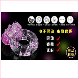 Wholesale Silicon Penis Sleeve - Silicon Vibrating Cock ring Penis Extension Sleeve Rings Cockring, Sex Toys Products For Men Adult Massage Vibrator & Male order<$18no track