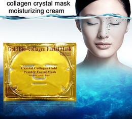 2019 emballage de masque facial Masque facial de bio-collagène d'or Masque facial Masque facial de collagène de poudre d'or de cristal promotion emballage de masque facial