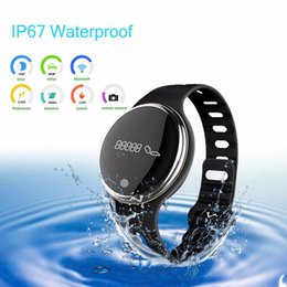 Reloj pulsera saludable online-E07 Impermeable IP65 Bluetooth Smart Watch Pulsera Deporte saludable Podómetro Sleep Monitor relojes inteligentes para teléfonos android