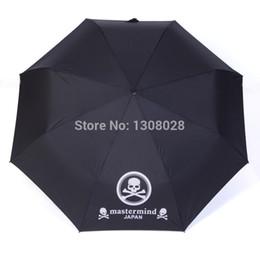 Wholesale Umbrella Men - Wholesale-Japanese One Piece Skull Anime Mastermind Manual Three Folding Women Men Personalized Clear Rain Umbrellas For Sale