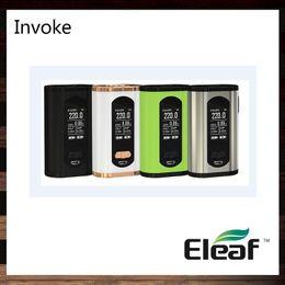 Wholesale Metal Banks - Eleaf Invoke 220W TC Box MOD With Larger 1.3-inch Display Compact and Ergonomic Design Power Bank Function 100% Original