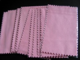 Wholesale clean silver polishing cloth - 50pcs 10*7cm super NO1 pink Silver Polish Cloth for silver Golden Jewelry Cleaner Blue Pink Green colors option Best Quality
