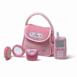 Wholesale Toy Phones For Babies - Wholesale-High Quality Creative Cloth Toys, Purse+Phone Playsets for Baby Girls