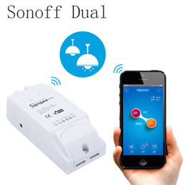 Wholesale Remote Control Switch Module - Sonoff Dual 2CH Wifi Smart Switch Home Remote APP Control Wireless Switch Universal Module Timer Wi-fi All Controller OTH720