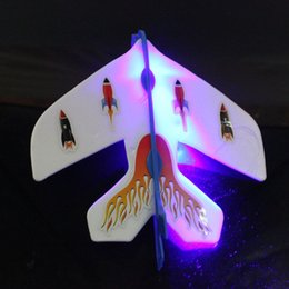 Wholesale Flying Plane Toys - LED Luminous Ejection Plane Amazing FlashToys LED Arrow Helicopter Toys LED Plane Dolls Flicker Flying Plane Children's Toys Christmas Gifts