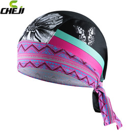 Wholesale Cycling Gear For Women - 2016 Cheap New Women CHEJI Cycling Caps Bike Bicycle Headband Bandana Pro Team MTB Cool Riding Ciclismo Hat for Man Cycling Protective Gear