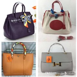 Wholesale Handbags Horses - Fashion H Handbags Women BIrkln Shoulder Horse Carriage Classic Paris Famous Brand Designer Bag Lock Leather Bag Tote Womens Chain Female Ba
