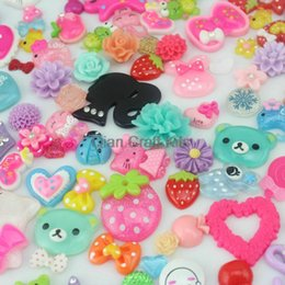 Wholesale Sweet Cabochons - 200pcs Mixed Cabochons Sweet Decoden Kit mix kawaii Cabochon flat back Embellishments resin Assorted cabochon up to 500 patterns