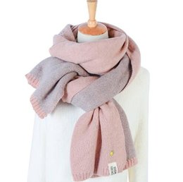 Wholesale Thick Scarves For Women - Pineapple Staples Imitation Cashmere Long Scarves Women's Fresh Style Winter Thick Scarves Contrast Color Wool Scarves Scarf For Women Shawl