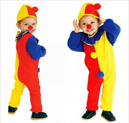 Wholesale Christmas Costumes For Teenage Boys - New children halloween clown costume clothing classic halloween cosplay costumes for kids boys kids christmas clown cloth free shipping HC34