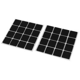 Vente en gros-Durable Auto-Adhésif Protecteurs de plancher Meubles Feutre Tampons Carrés 32pcs ? partir de fabricateur