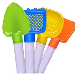 Wholesale Beach Plastic Shovel - Wholesale- 7Pcs Kids Beach Toys Castle Bucket Spade Shovel Rake Water 17Oct19