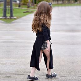 Wholesale Blue Polka Princess Dress - New 2017 Stripe Polka Dots Long Sleeve Children Princess Dress Autumn Vent Kids Long Dresses Girl Beach Dress C2493