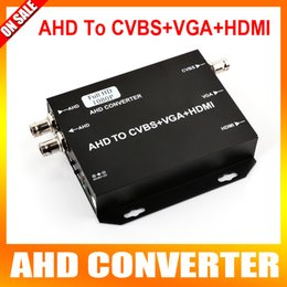 Wholesale Hdmi Analog Video Converter - AHD Video Converter 720P 1080P Analog High Definition Camera Connector To HDMI VGA CVBS Signal,Support 250MA Output,25 30fps