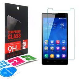 Wholesale Honor 3x - 9H Tempered Glass Screen Protector For Huawei Nexus 6P inspira H867G G7 PLUS G6 honor 5x 3c 3x 4x play 4x honor 6 plus 7 retail-box