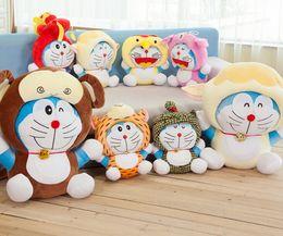 Wholesale Doraemon Plush Zodiac - 1PCS 40cm The Best-selling Doraemon 12 Zodiac Kawaii Toys For Girls Plush Toys Stuffed Animal Christmas Gift