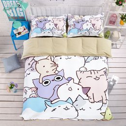 Wholesale Queen Suite - Fresh And Interesting Cartoon Anime Series Bed Suite Fashion Printing 4pcs Twin Queen King Size 100% Polyester Sheet Quilt Cover