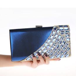 Wholesale Mini Evening Handbags - New Luxury Banquet Bride Rhinestone Handbag Fashion Evening Bag Wedding Party Mini Purse Lady Wallet with Chain