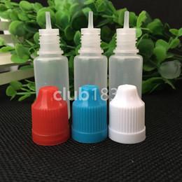 Bouteilles de gouttes en plastique les moins chères en Ligne-Les bouteilles de compte-gouttes de 10ml les moins chères avec les casquettes imperméables colorées et les bouts longs minces 10ml bouteille de compte-gouttes vide en plastique