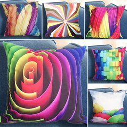 Wholesale Wholesale Geometric Pillow Cushion - 45*45cm Pillow Case High Quality Geometric Abstraction Plush Glamour Square Pillow Case Cushion Cover Office Home Sofa Decoration WX9-120