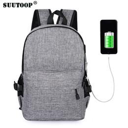85b244575446 pink weekend bag Canada - suutoop backpack USB 15.6 inch laptop bag men  women large capacity