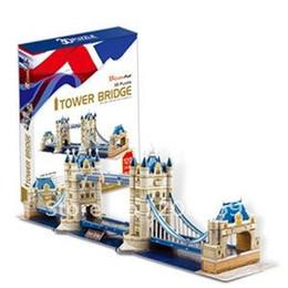 Wholesale 3d Puzzle Cubicfun - Wholesale-Authentic joy cubicfun 3D puzzle paper model MC066H London twin bridges (UK) - Deluxe Edition