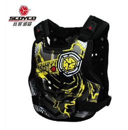 Wholesale Back Chest Protectors - NEW Scoyco AM06 Motorcycles Chest Back Protector Armor Vest Racing Protective Body-Guard Accessories Free shipping