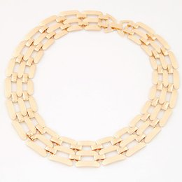 Wholesale Chunky Costume Jewelry - Costume Jewelry New Luxury Statement Chunky Necklace Women Gold Plated Silver Plated Maxi Necklaces Woman Chain Collares