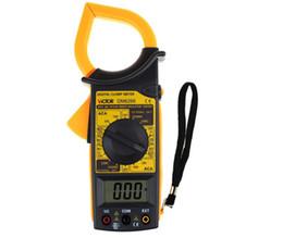 Wholesale Multimeter Electronic - DM6266 LCD Multimeter AC DC Voltage Digital Clamp Electronic Tester Meter Tool Multimeter DMM Voltmeter Clamp Meter