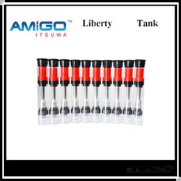 Wholesale Oil Vapes - Amigo Liberty V1 0.5 1ml Vapes Cartridges Thick Oil Vaporizer Pen Cartridges CE3 Atomizer Fit 510 Battery Wax Pens Clone