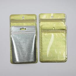 Cajas del teléfono celular de la perla online-Golden Pearl Plastic Poly Bags OPP Embalaje Zipper Lock Package Accessories PVC Venta al por menor Boxes Hand Hole para USB Cables iPhone Cell Phone Case