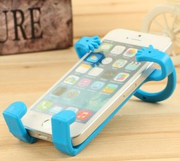 cell phone hangers NZ - Bondi Flexible Human Shape Silicone Cell Phone Stand Holder for iphone 6 Plus Samsung S6 Universal Mobile Phone Multi Function Hanger Q3