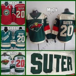 Wholesale Ryan Suter - 2016 Stadium Series Ryan Suter Minnesota Wild Hockey Jerseys Green #20 Ryan Suter Jersey White Authentic Stitched Jersey A Patch