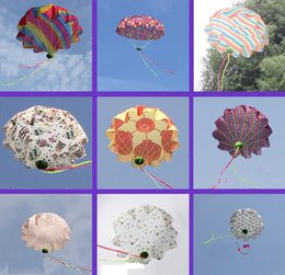 Wholesale Hottest Toys China - 2016 New Hot Wholesale-China Throwed parachute flying umbrella umbrella throwing children's educational toys 50cm Colors mix