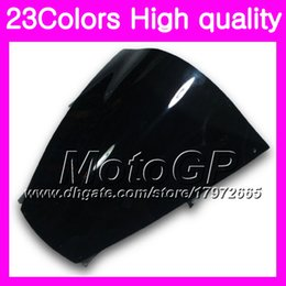 Wholesale Zx 12r - 23Colors Windscreen For KAWASAKI ZX12R 02 03 04 05 06 ZX 12R ZX-12R 2002 2003 2004 2005 2006 Chrome Black GPear Smoke Windshield
