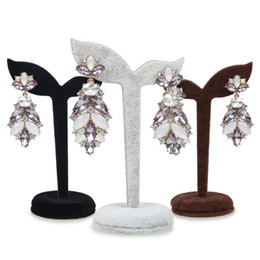 Titolari di stallo online-Orecchini pendenti del gancio dell'esposizione dei gioielli del supporto di mostra dell'orecchino del velluto Orecchini d'attaccatura d'attaccatura del gancio per la bancarella del chiosco del mercato giusto