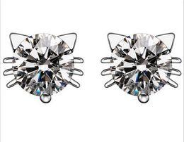 Wholesale Switzerland Crystal Jewelry - US and Switzerland 925 sterling silver stud earrings wholesale diamond earrings upscale cat elf ear jewelry hypoallergenic rhodium
