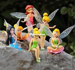 Wholesale Garden Goods - Kawaii 1sets lot=6pcs resin 6 models fairy garden miniatures princess crafts miniature fairy figurines garden decoration