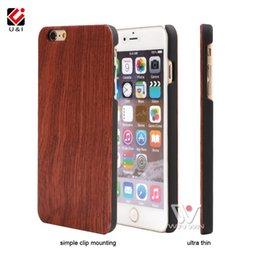 Wholesale Original Bamboo - For iPhone Apple 7 8 Blank Wood Bamboo U&I Case for iPhone 7 8 Rosewood Walnut Custom Brand New Original Fundas Protector Capa